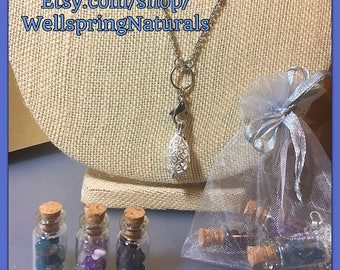 Crystal Locket - Customizable Healing Crystal Necklace - Great Gift