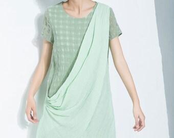 Tunic dress, linen tunic, mini tunic, linen dress, mini dress, linen summer dress, linen dress women, womens summer dress C1120