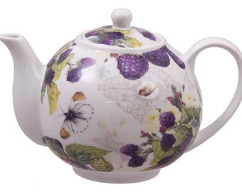 berry and butterfly teapot