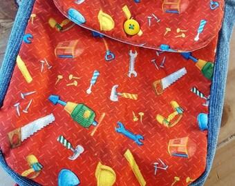 Toddler Backpack, Tool Backpack, Boys Preschool Backpack, Kids Backpack, Kids Overnight Bag