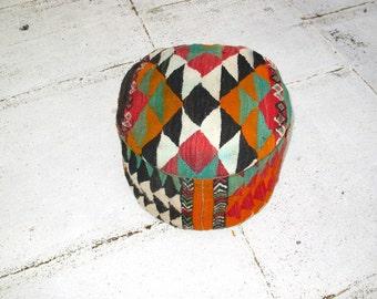 Moroccan Pouf, Berber Rug - Yassir