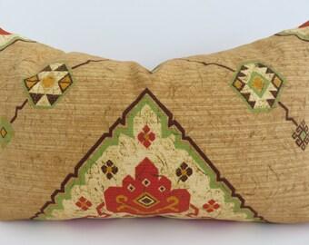 Orange Brown Pillow Cover- Decorative Lumbar- Accent Home Decor- Home Decoration- Decorative Pillow Covers- Accent Lumbar - 12x20 Lumbar