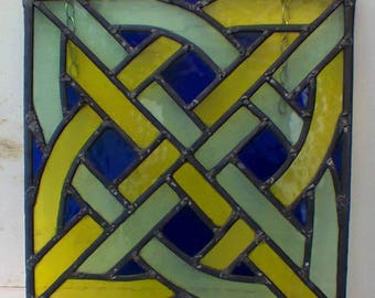 Celtic Knot - leaded glass panel