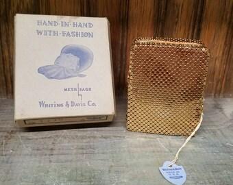 Vintage, Whiting, Davis, cigarette case, Whiting Davis, Cigarette case, Flapper Cigarette, Art Deco, Edwardian, EAM, Flapper Era, giftbox
