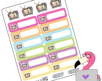 Kawaii: TV- Boxes - Planner Stickers