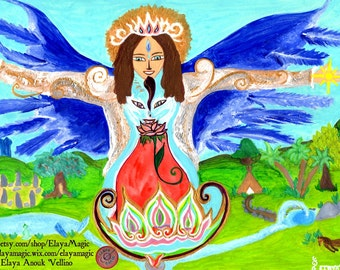 Archangel Michael and the Divine Feminine - Poster & Light Sharing (texts)
