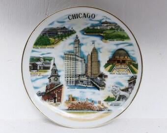 Vintage Chicago Souvenir Plate - Souvenir