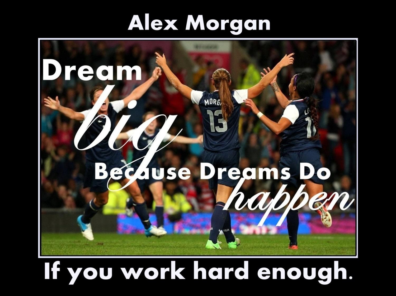 Alex morgan girls soccer motivation poster dream big wall zoom voltagebd Image collections