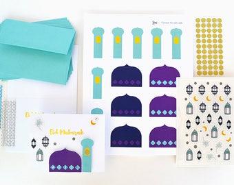 New Moon Craft Eid Greeting Card Kit