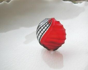 Venetian Murano Blown Glass Filigrana Bead