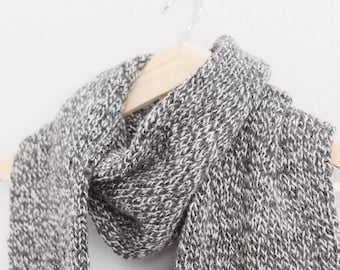 Knitted Fringe Scarf // Gray Knitted Scarf // Knit Fringe Scarf // Knit Oversized Scarf // Blanket Scarf // Wool Scarf // Natural Scarf