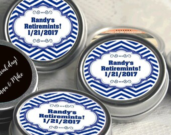 12 Chevron Matinee Style Retirement Mint Tins -RetireMints - Chevron - Retirement Favors - Retirement Decor - Retirement Mints - Retired