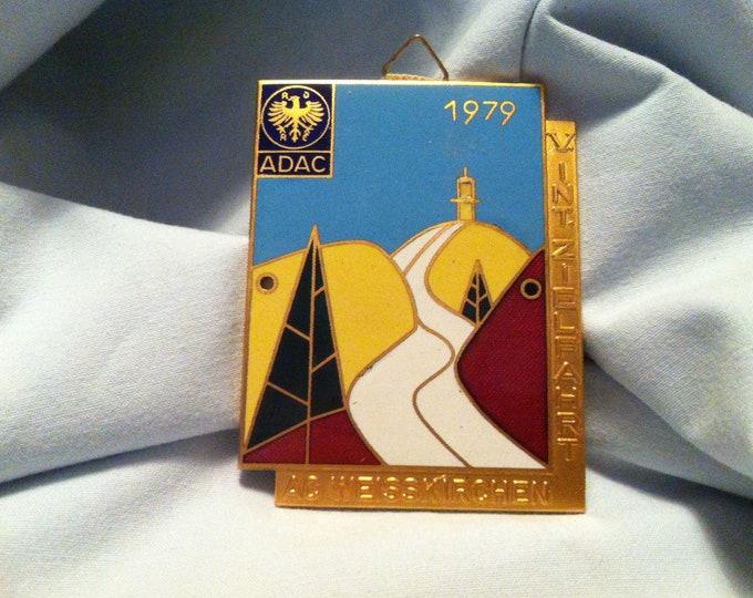 Vintage 1979 ADAC badge Bavaria AC White