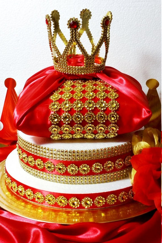 NEW Royal Prince Baby Shower Pillow Centerpiece / Boys Royal Red U0026 Gold  Baby Shower Theme And Decorations