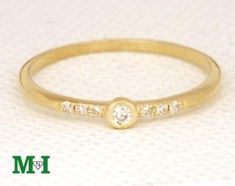 Engagement Rings,Wedding Bands,Diamond ring,14K Solid Gold Diamond Ring,Bridal Rings,Wedding Rings,Tiny Diamond ring