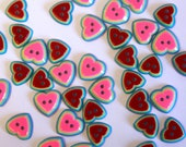 Rainbow Heart Buttons -- ...