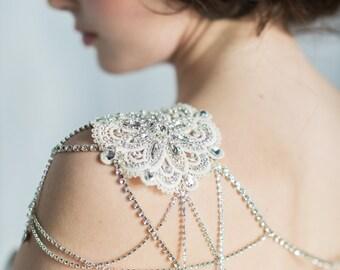 Gold Shoulder Necklace Rose Gold Crystal Shoulder Chain