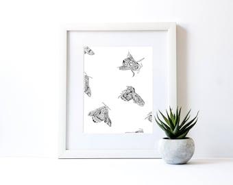 Busy Bees - Giclée print