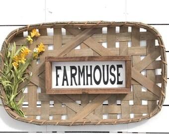 FARMHOUSE Wood Sign | wall decor | farmhouse sign | rustic sign | farmhouse style | fixer upper decor