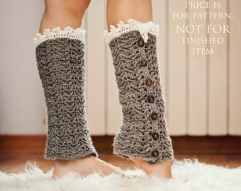 Crochet PATTERN - Luxury Leg Warmers