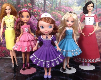 Alice Printable Doll Clothes - Fits Ever After High, Sofia the First, Moxie Girlz, Barbie, and more!