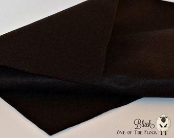 Black Wool Felt, Merino Wool Blend Felt, Wool Blend Felt, Wool Felt Yardage, Wool Felt Fabric, Black Felt Fabric, Black Felt Yardage