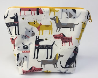 Dogs Project Knitting Bag