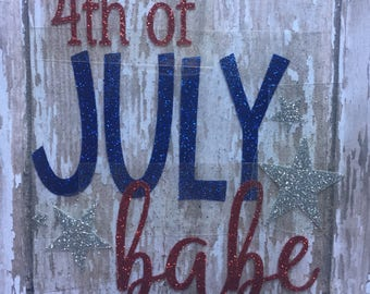 4th of July Babe Iron on Decal/ DIY Fourth of July Babe Shirt/ DIY 4th of July Baby Bodysuit/ DIY 4th of July Baby Outfit/ Independence Day