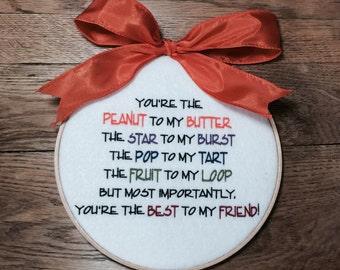 Best Friend Gift, Best Friend Sign, Best Friend Plaque, Best Friend Word Art, Best Friend Wall Hanging, Best Friend Wall Art, Friend Gift