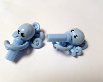 Baby Twins  Little Octopus Mini Marble Friends Shown here in  Boys Light Powder Blue Favor or Decoration for Gender Reveal Party