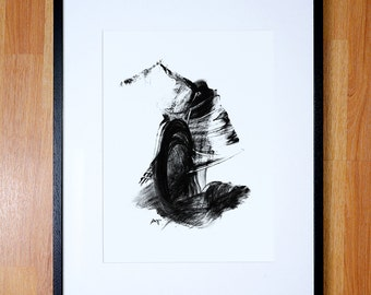 Black and white abstract giclee prints. Limited to 200 printings. Framing and size options.