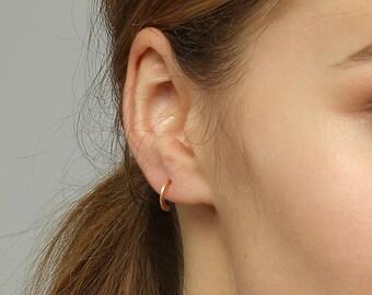 Gift for Mom, Delicate Stud Earrings, Half Hoop Earrings, Open Earrings, Mothers Day Gift, Dainty Earrings For Women, Small Hoops, Gifts