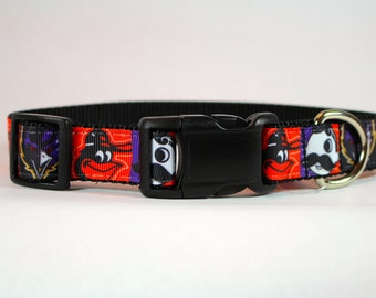 Baltimore dog collar, Orioles inspired, Ravens Inspired, Natty Boh Inspired dog collar, nylon collar, pet gift, dog accessory, Bozies Bags