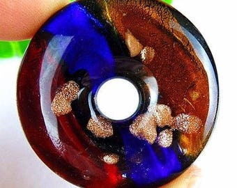1 45 X 45 in lampwork glass donut