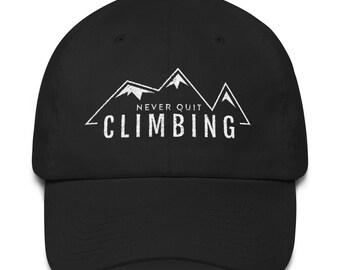 "Dad Hat - ""Never Quit Climbing"""