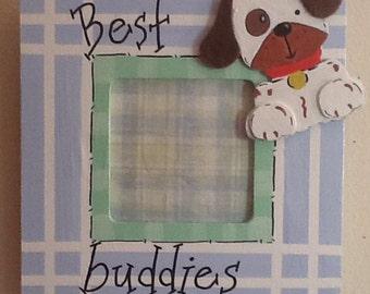 Friends picture frame, baby frame, big brother frame, sibling frame, best friend frame