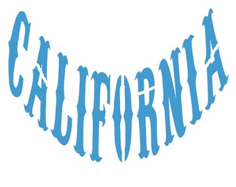 STENCIL (Reusable) California Different Sizes Available