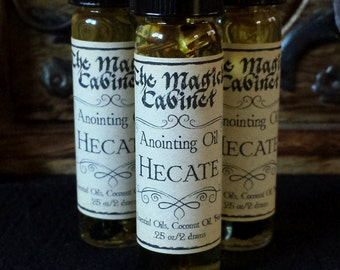Hecate Oil to Honor the Goddess, Hekate, Ritual Oils, Witchcraft Oils, Witchcraft Supplies, Witchcraft, Wicca, Witch, Goddess Oil,Apothecary