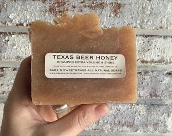 TEXAS BEER HONEY {Shampoo + Face + Shaving, Local Honey, Cocoa Butter + Citrus Essential Oil}