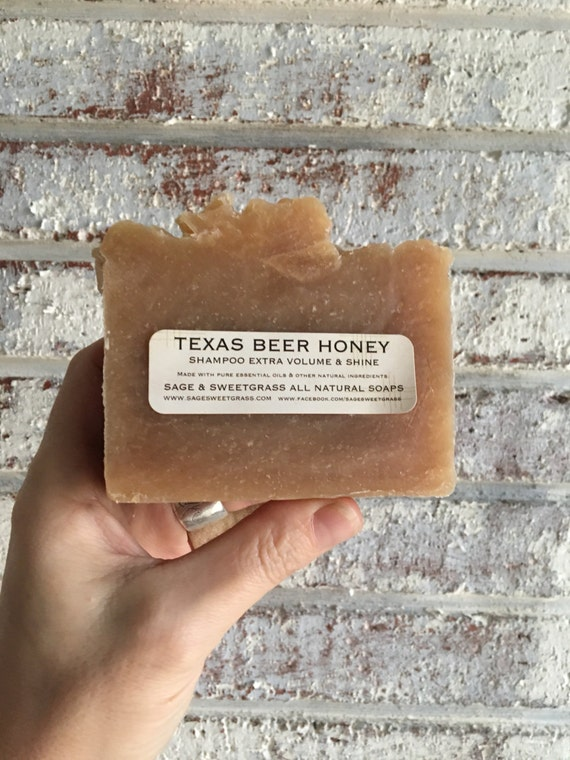TEXAS BEER HONEY {Shampoo + Face + Shaving, Local Honey, Cocoa Butter + Citrus Essential Oil}