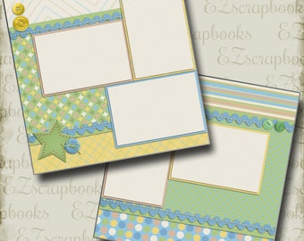 My Baby Boy - 2 Premade Scrapbook Pages - EZ Layout 372