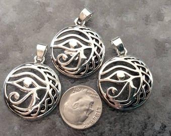 3 - Large Eye of Horus, ancient Egyptian symbol of powerful protection and good healthpendants, Boho Gypsy necklaces