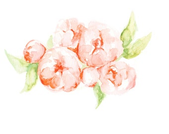 Peony Art Print - Flowers - Floral Painting - Floral Watercolor Painting - Home Decor - Watercolor - peonies - peony watercolor -  peony art