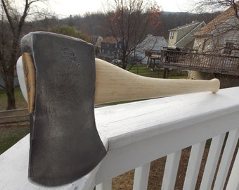 Keen Kutter single bit axe with new 27 inch handle of American Hickory
