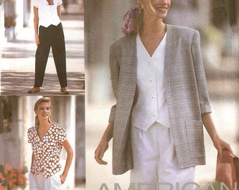 Woman's Pants, Shorts, Blouse/Top and Jacket Sewing Pattern UNCUT Simplcity 8964 Miss Size 12-16