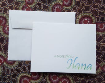 Made-to-Order Hand Painted Note Card (Blank Inside) - Set of Six w/ Envelopes