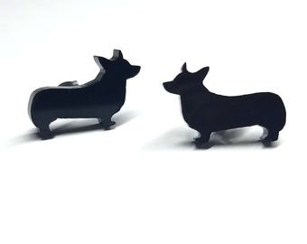 Corgi Dog Earrings | Laser Cut Jewelry | Hypoallergenic Studs