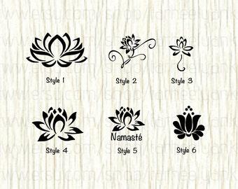Lotus Car Decal, Lotus Decal, Yoga Decal, Yoga, Meditation Decals, Zen Decals, Namaste Decal, Lotus Blossom Decal, Buddha, Flower Decal