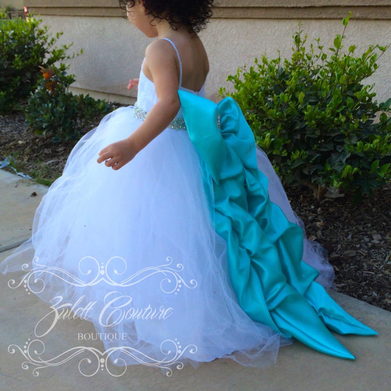 Baptism Dress Mini Bride Dress Flower Girl Dress lace