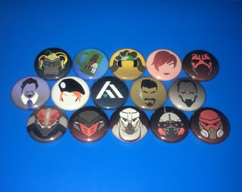 """OVERWATCH Archives Retribution 2018 - 1"""" Pin Badge Pinback Button - {YOU CHOOSE} - [ Overwatch Uprising Icons Available ]"""